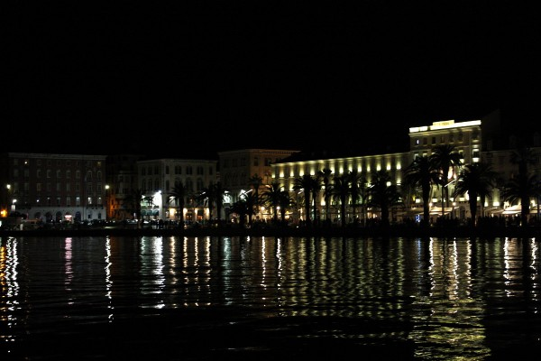 Pretty waterfront at night