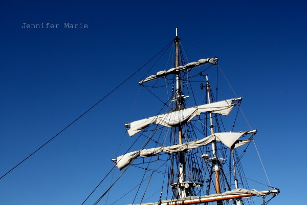 The tall ship from Denmark that we cruised on