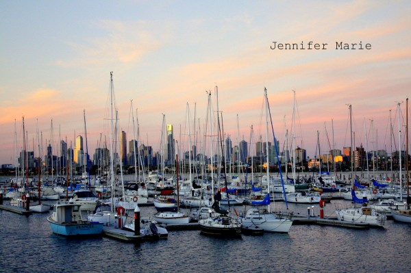 St. Kilda marina with Melbourne in the background