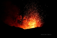 Mt. Yassur erupting on Tanna Island, Vanuatu