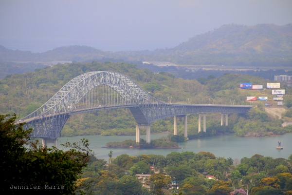 Bridge of the America, spanning the entrance to the Panama Canal and linking the north and south American land masses.